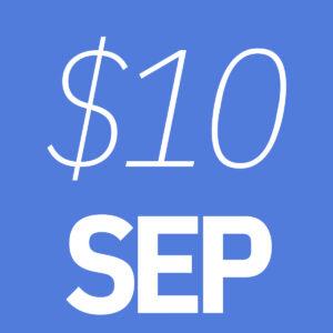 $10 September