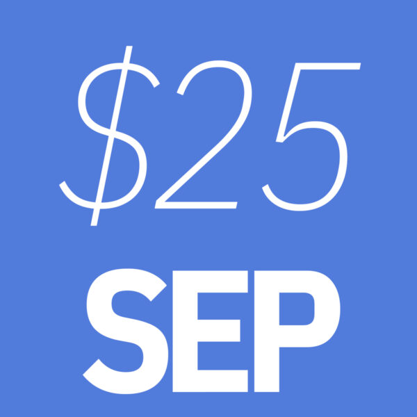$25 September